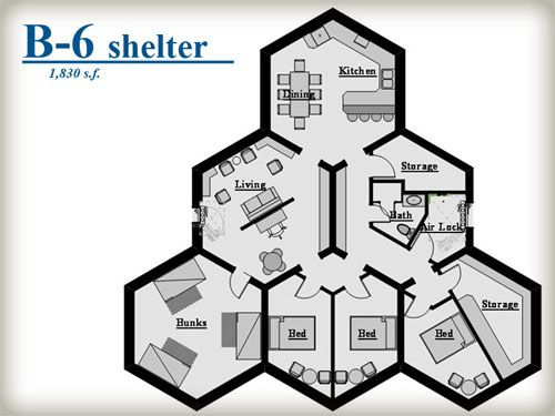 Image result for bomb shelter floor plan Home Floorplans Small