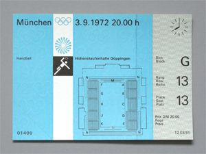 Handball (Goppingen) Ticket, 1972