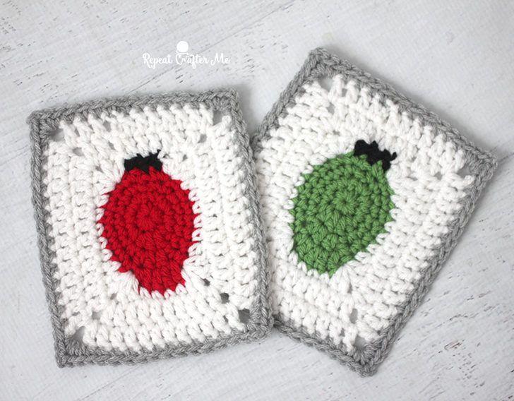 Crochet Christmas Lights Granny Square | Bitchin\' Stitchin ...