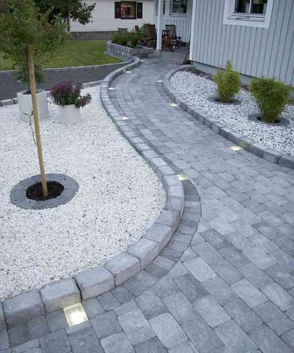 Affordable front yard walkway landscaping ideas (78