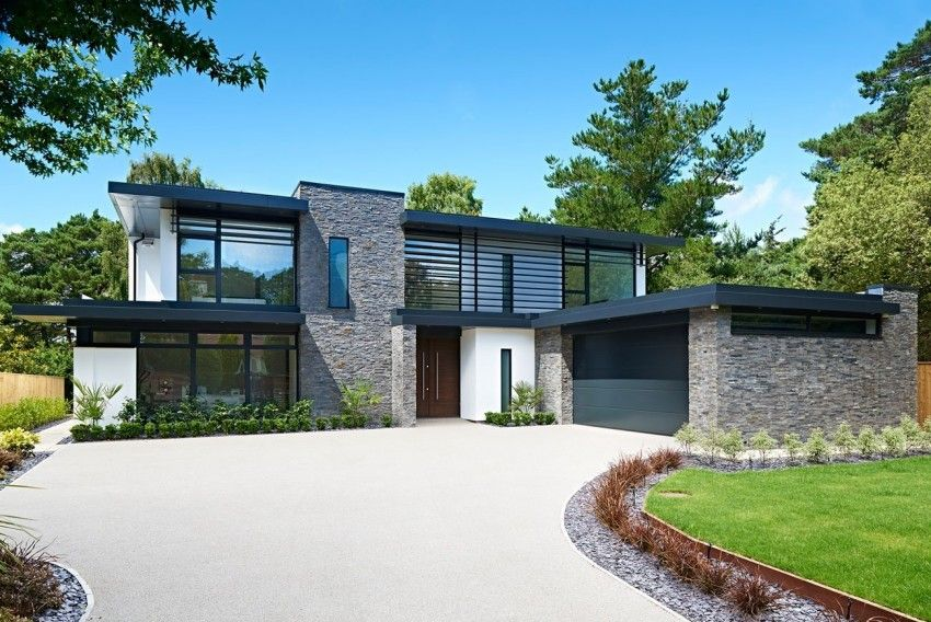 Elegant Contemporary Home In Canford Cliffs Modern House Plans House Exterior House Designs Exterior House designs uk modern