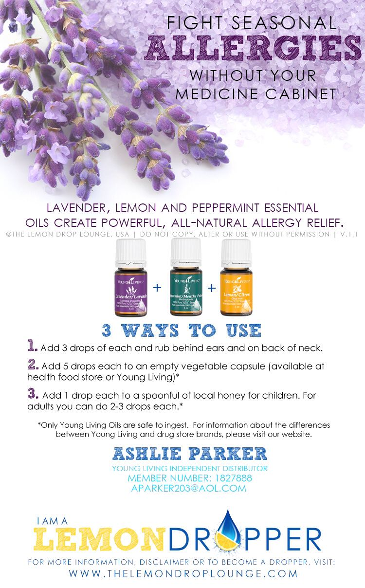 Young living essential oils  allergies