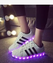 purchase cheap aa9e5 cbf4c 2015 women lights up led luminous shoes a new simulation sole led shoes for  adults men Sneakers(China (Mainland))