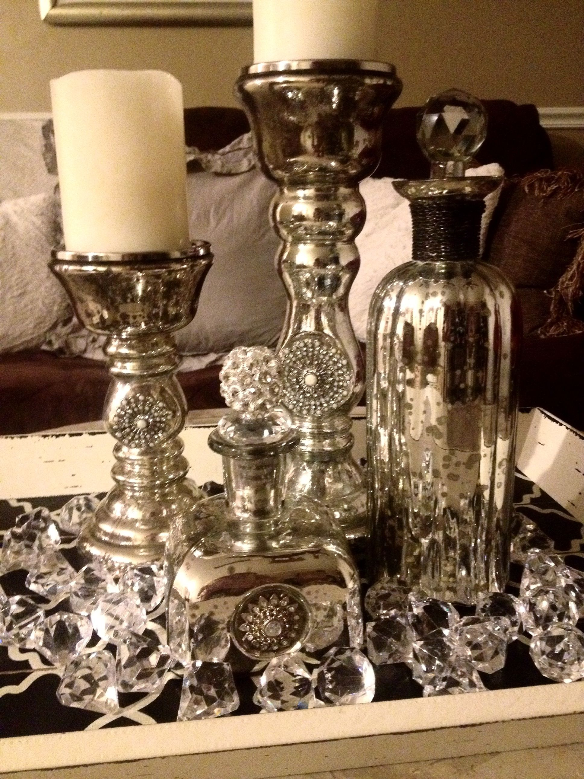 My new center piece for my coffee table!   Centerpieces ...