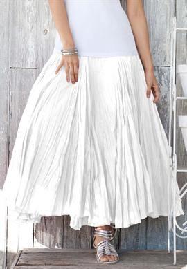d24aafa42b3e6 Plus Size Cotton Crinkle Skirt