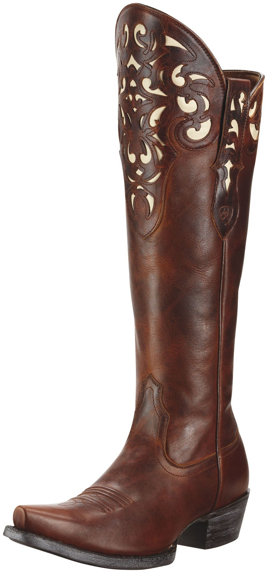 NEW! Womens Ariat Hacienda Boots Vintage Caramel #10010252 ...