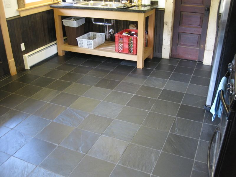Slate Small Kitchen Floor Tile Picture