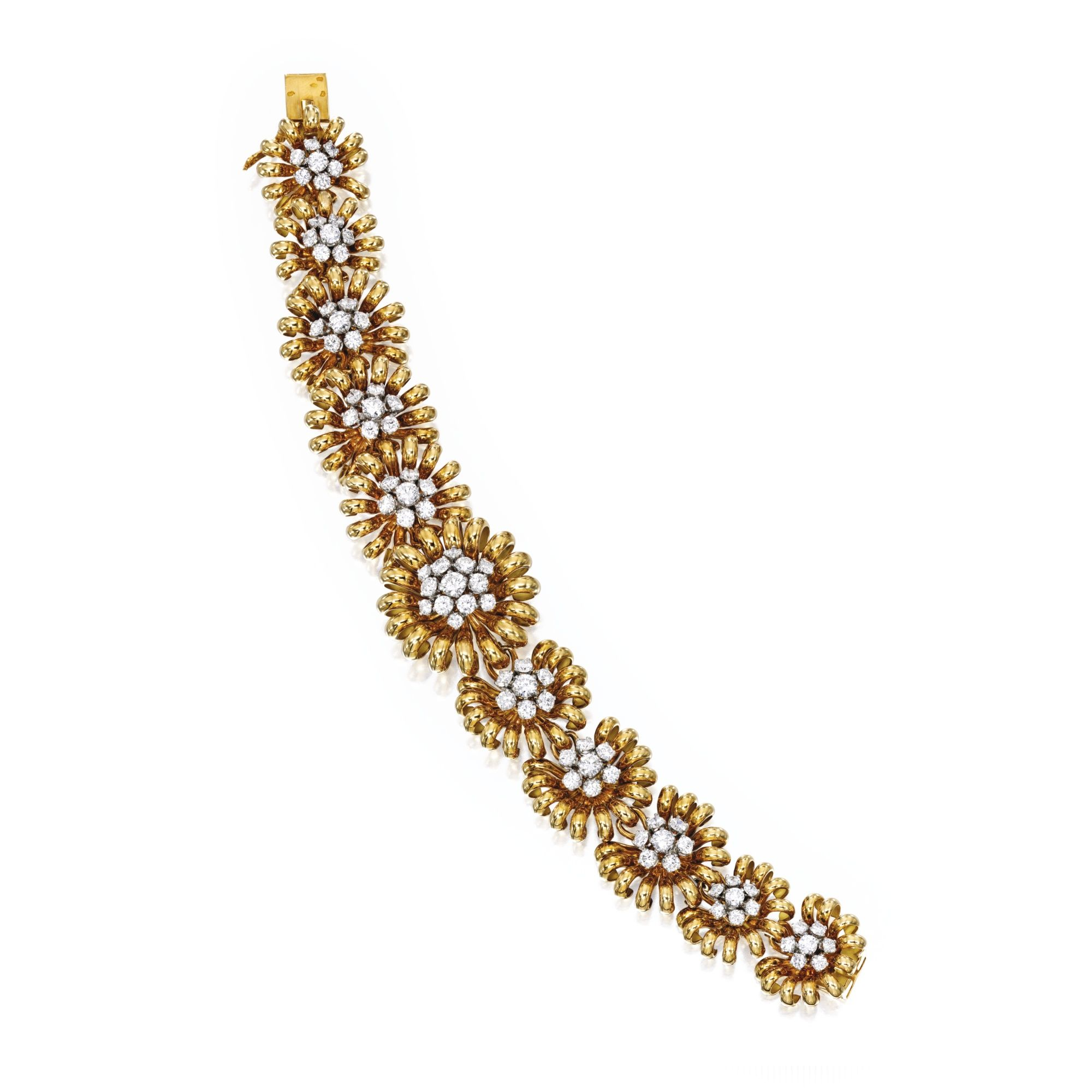 An karat gold and diamond bracelet van cleef u arpels france
