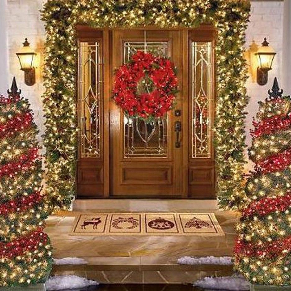 Christmas decorations outdoor wood - Decorating Landscaping Ideas Small Front Yard Led Christmas Lights Outdoor Christmas Decorating 2014 Decorating Outside For Christmas Small Front Yard