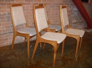 Handsome Set Of 4 Mid Century Teak High Back Dining Chairs Fabulous Design And Fantastically Comfortable High Back Dining Chairs Modern Furniture Furniture