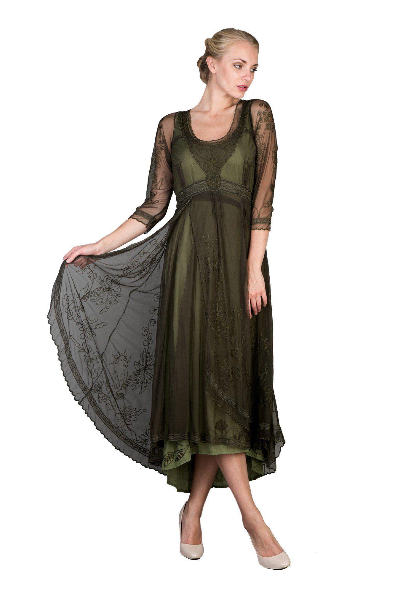 Emerald wedding dress  Downton Abbey Tea Party Gown in Emerald by Nataya  Vintage portrait