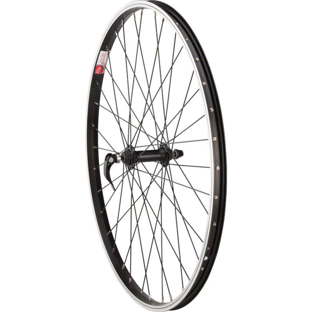 "Black 36 Spokes Sta-Tru Front Wheel 26/"" x 1.5/"" Quick-Release Axle"