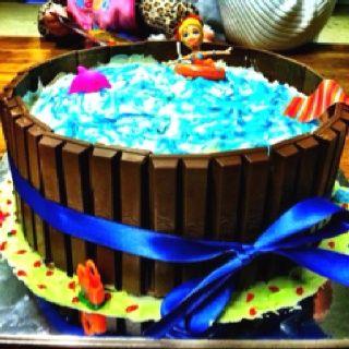 Cake Cake Under The Sea Critters Birthday Cake Swimming Pool Birthday Cake