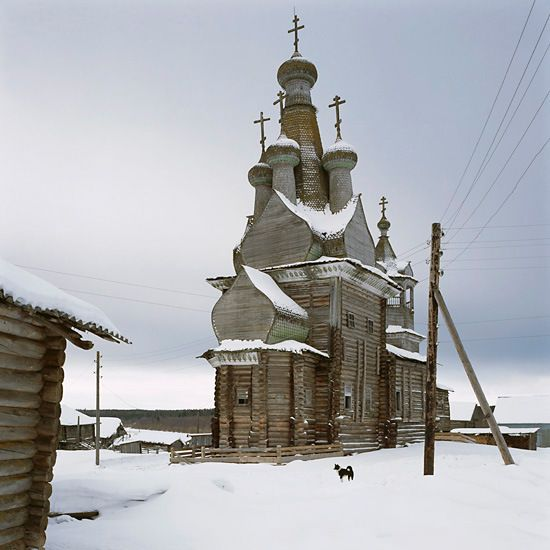 Wooden church in Northern Russia