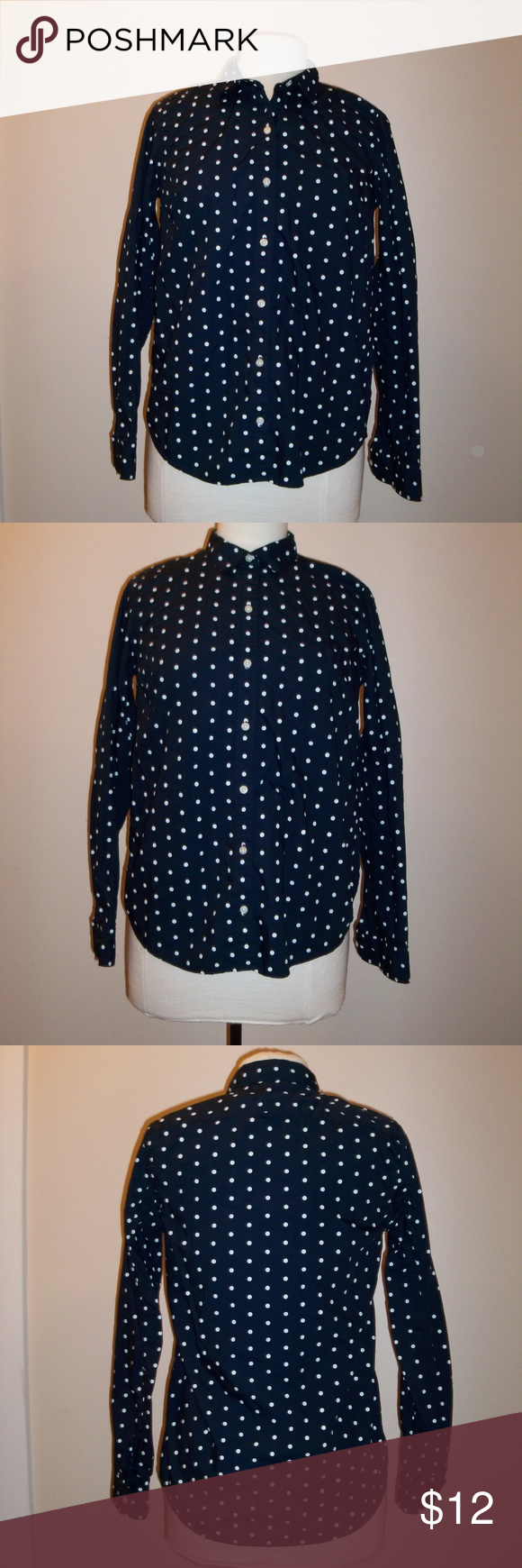 Gap Polka Dot Button Down Shirt | Clothes design, Fashion