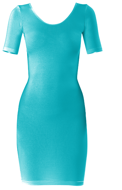 Caribbean Blue Bodycon dress by Khoncepts