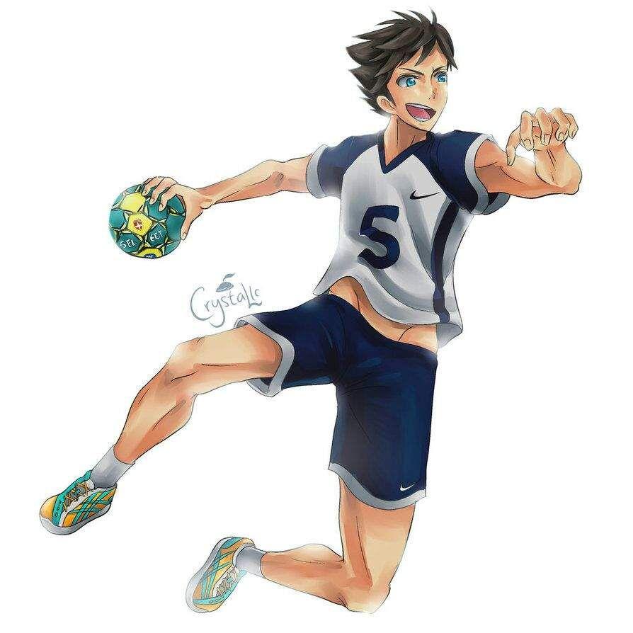 Handballer Zeichnung