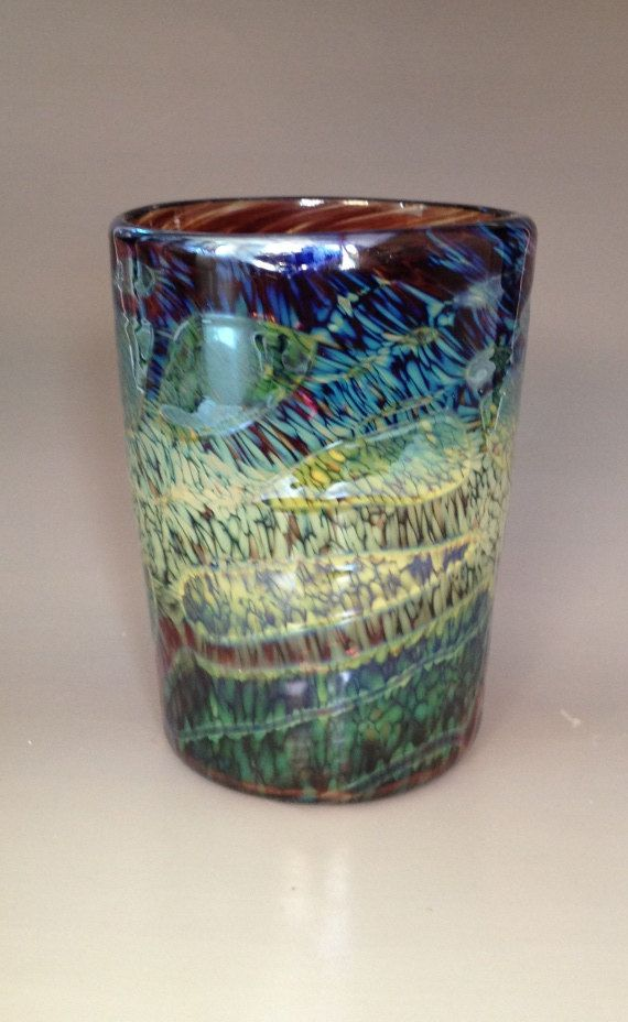 Unique Drinking Glass Blown Glass Tumbler by HorkoverGlass ...