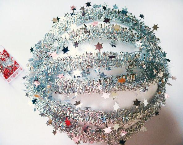 DIY Tutorial: New Year's Eve Tinsel Ball Drop // Hostess ...