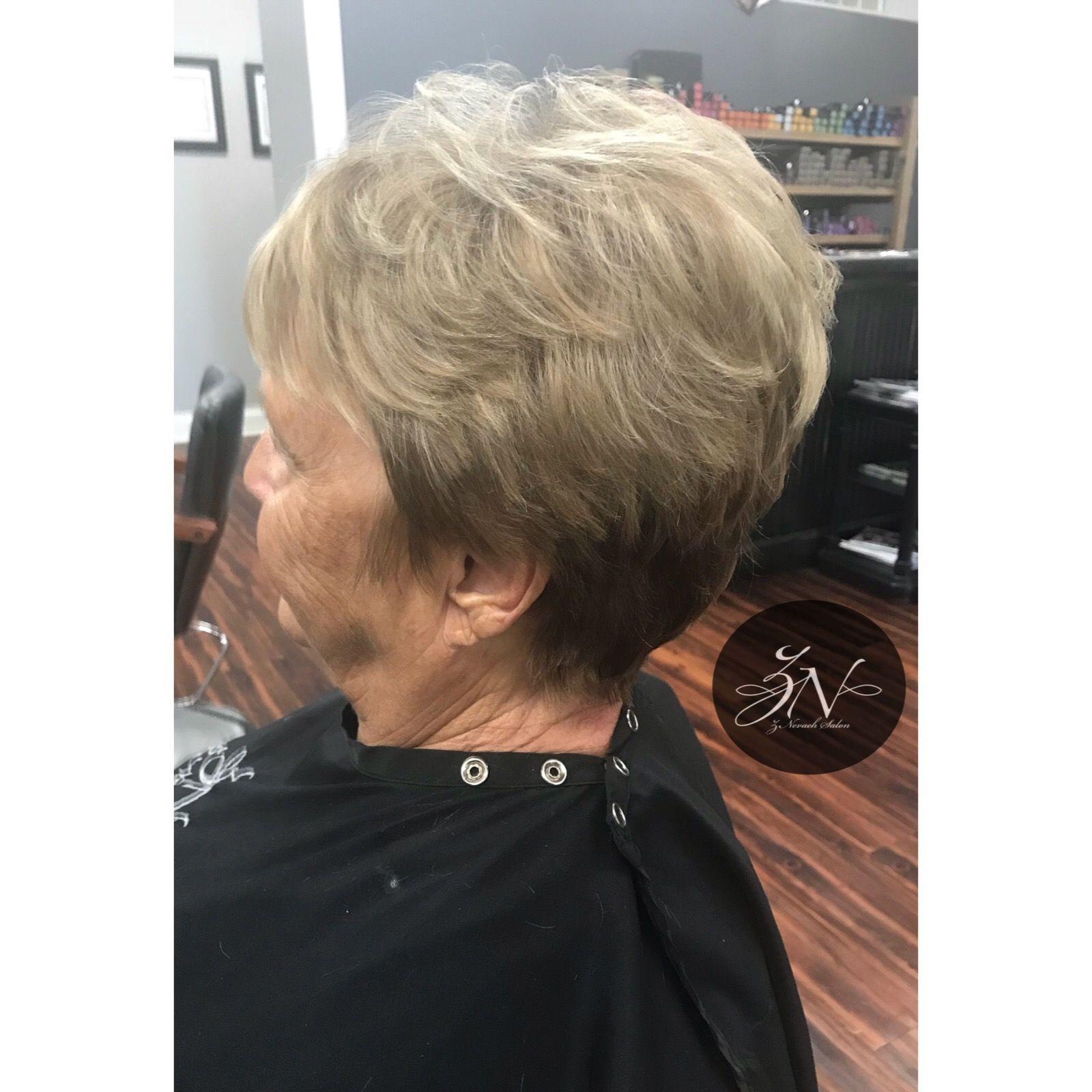 Blonde dimensional color u pixie cut short haircuts in