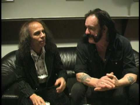 Lemmy and Ronnie James Dio chatting - YouTube | Holy Diving Soldier