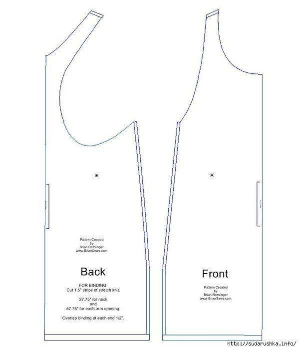 delantal de estilo túnica en Boho. patrón PDF   boho   Pinterest ...