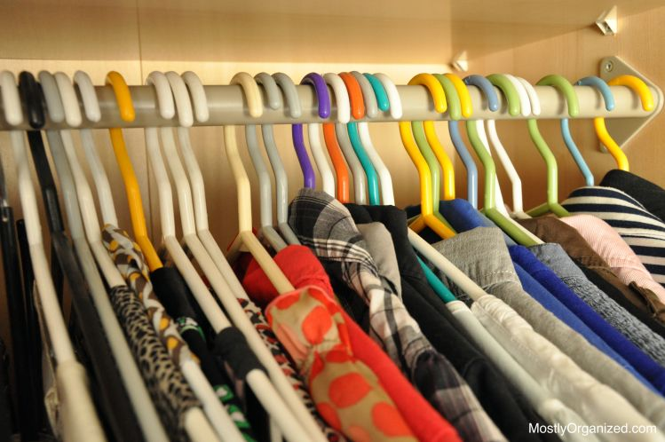 Switching your clothes from winter to summer will make them last longer. Plus it forces you to declutter items you don't use | MOSTLYORGANIZED.COM