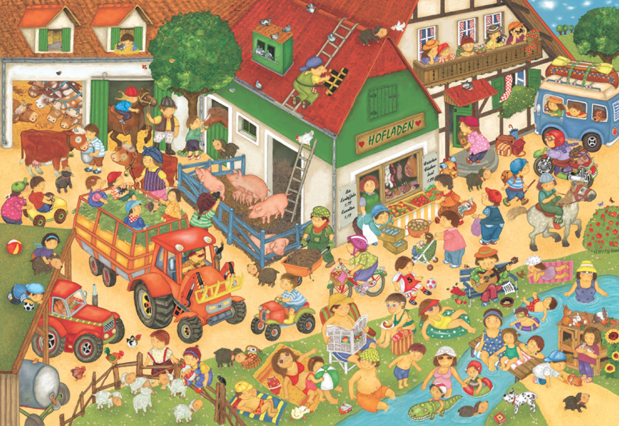 Wimmelbild On The Farm