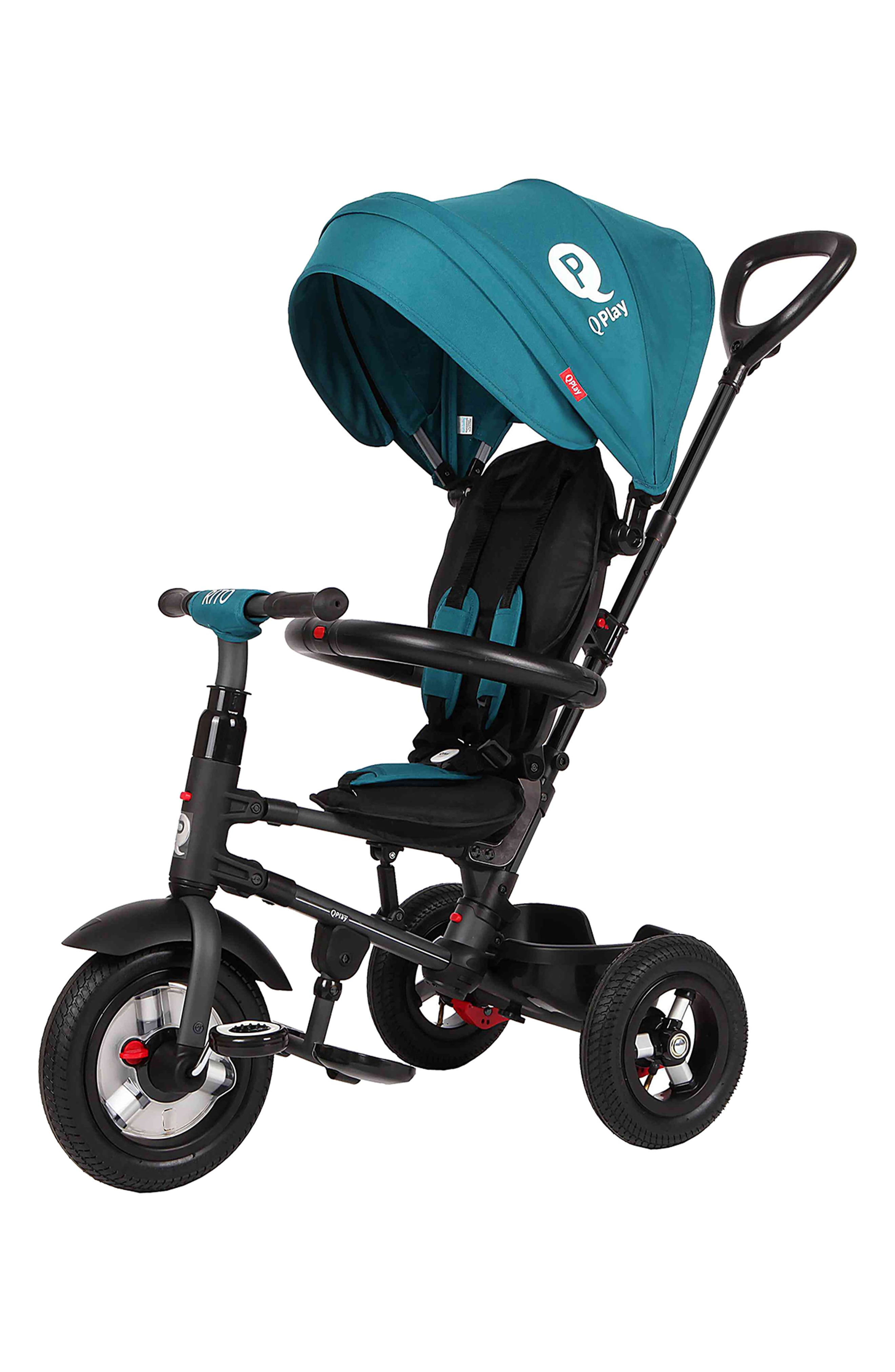 Rito Plus Air Tire Adjustable Compact Folding Trike Baby Stroller Teal NEW