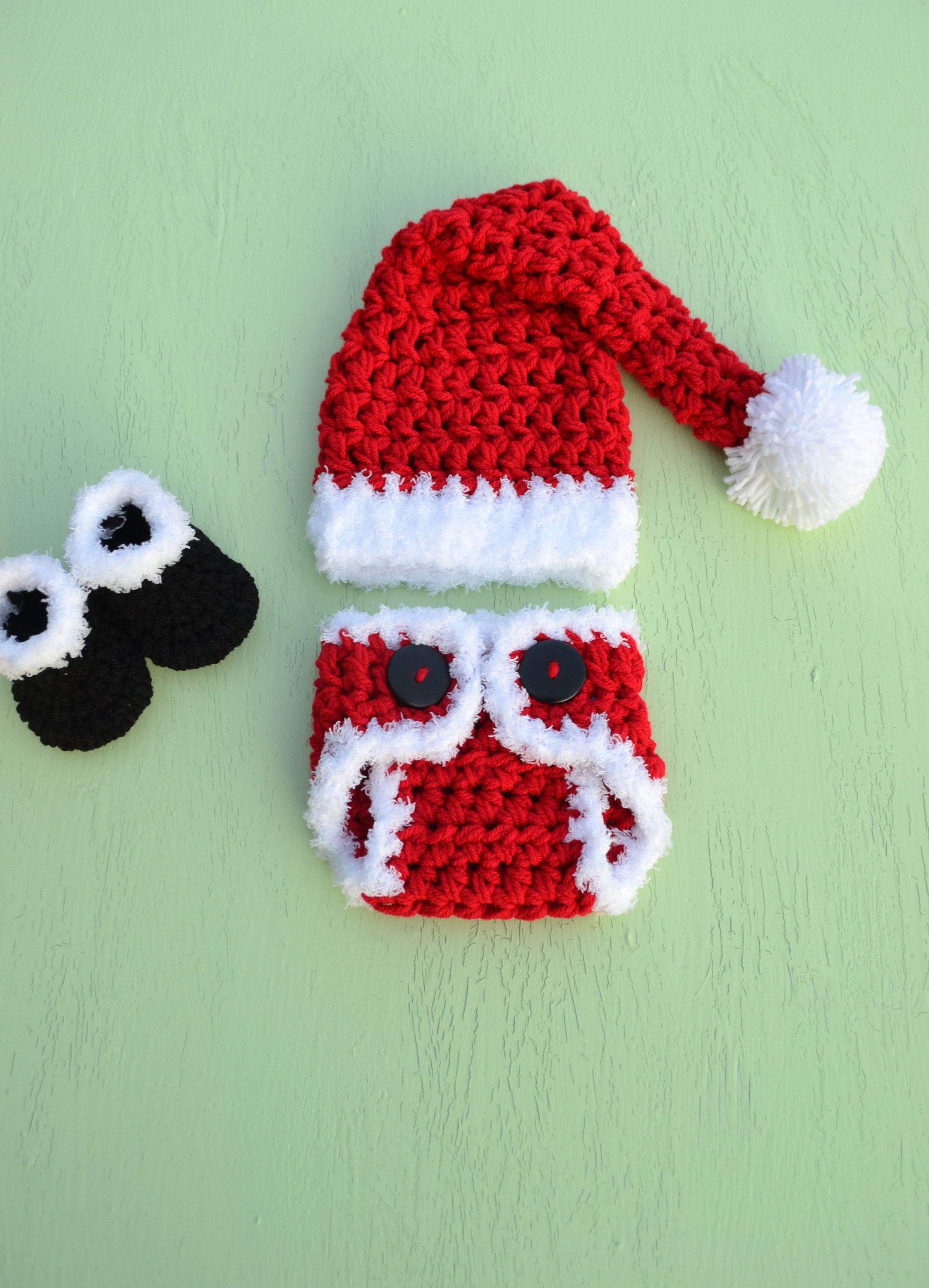 Newborn baby christmas outfit santa claus outfit santa baby crochet baby christmas outfit christmas photo prop newborn christmas pictures christmas prop