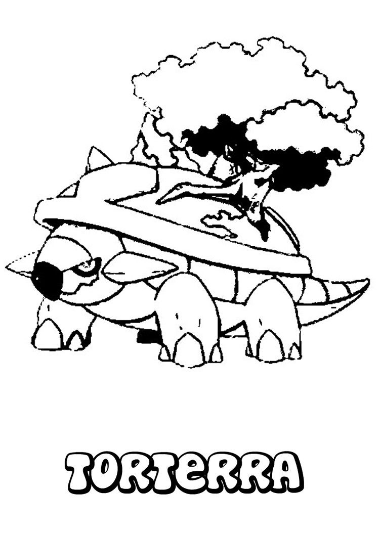 Pokemon Ausmalbilder Giratina : Torterra Pokemon Coloring Page More Grass Pokemon Coloring Sheets