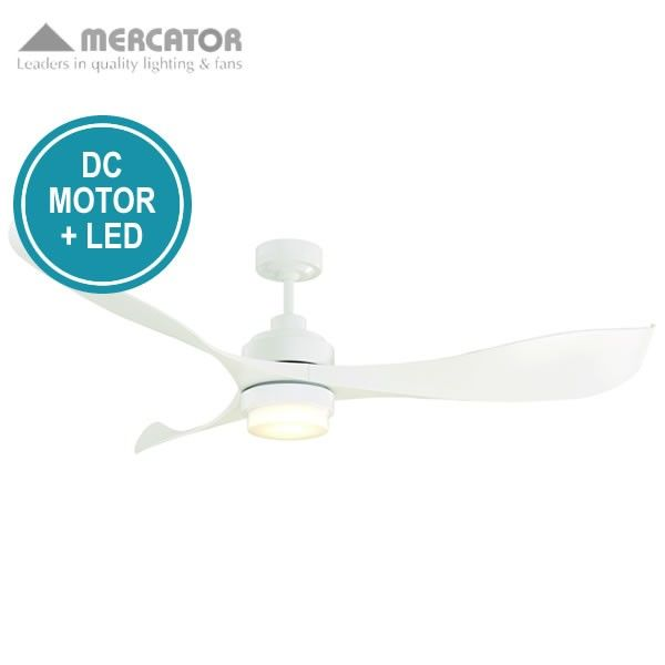 Mercator eagle ceiling fan with led light and remote dc motor mercator eagle ceiling fan with led light and remote dc motor white 55 aloadofball Image collections
