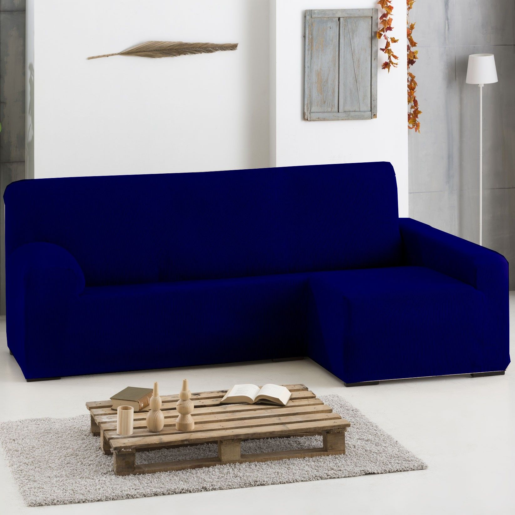 Remarkable Funda Elastica Chaise Longue Color Azul Marino Funda Para Pabps2019 Chair Design Images Pabps2019Com