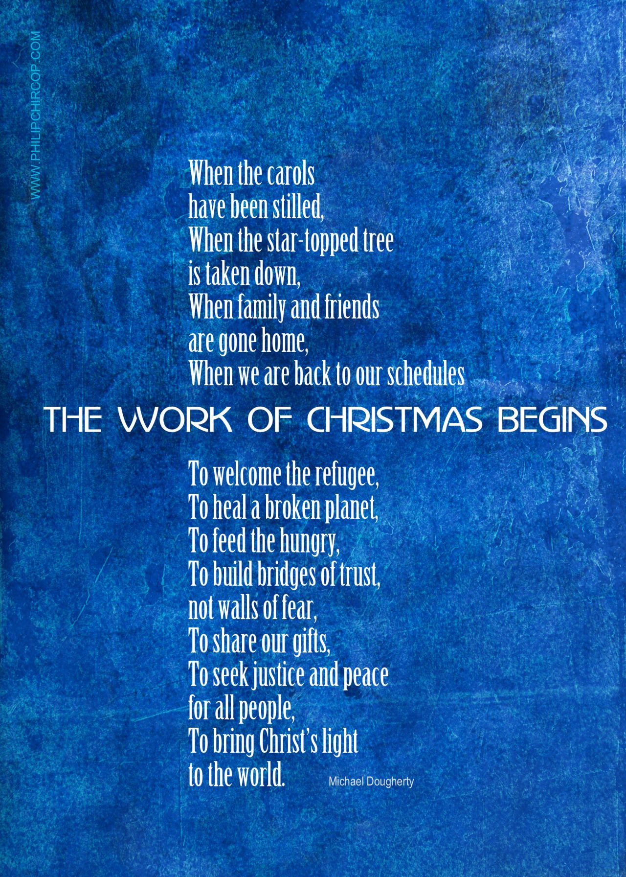 THE WORK OF CHRISTMAS BEGINS Here's a variation on Howard ...