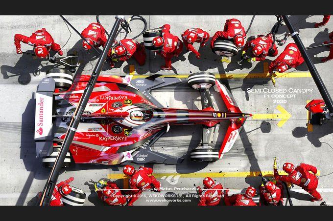 Ferrari - Semi Closed Canopy - Cockpit-Protection - Concept - Wekoworks - F1 - & Formel 1-Concept zum Cockpitschutz: Ist halboffene Kanzel die ...
