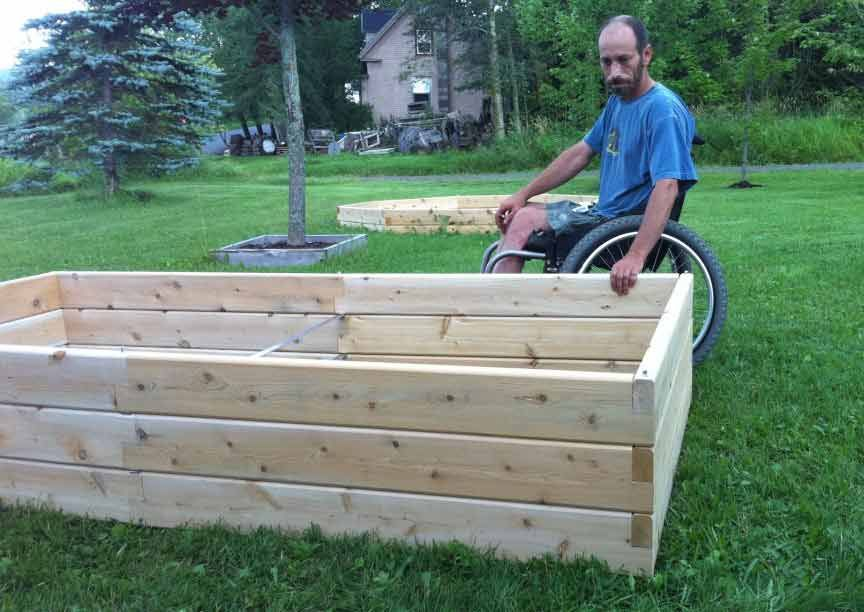 Dave Ciliberto With Raised Garden Bed
