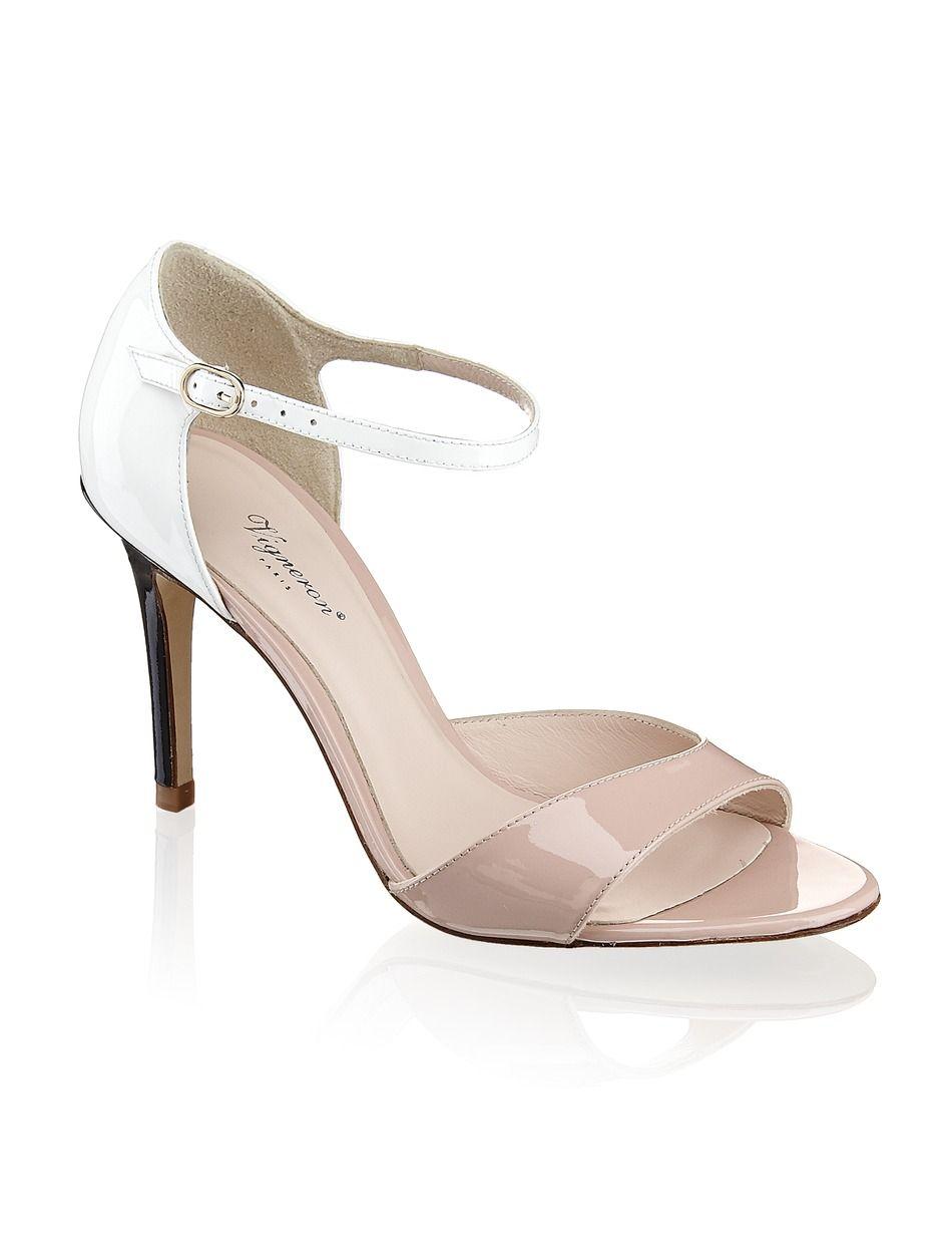 huge selection of 99724 9a9aa Vigneron Lackleder-Sandalette - beige | Schuhe | Sandalen ...