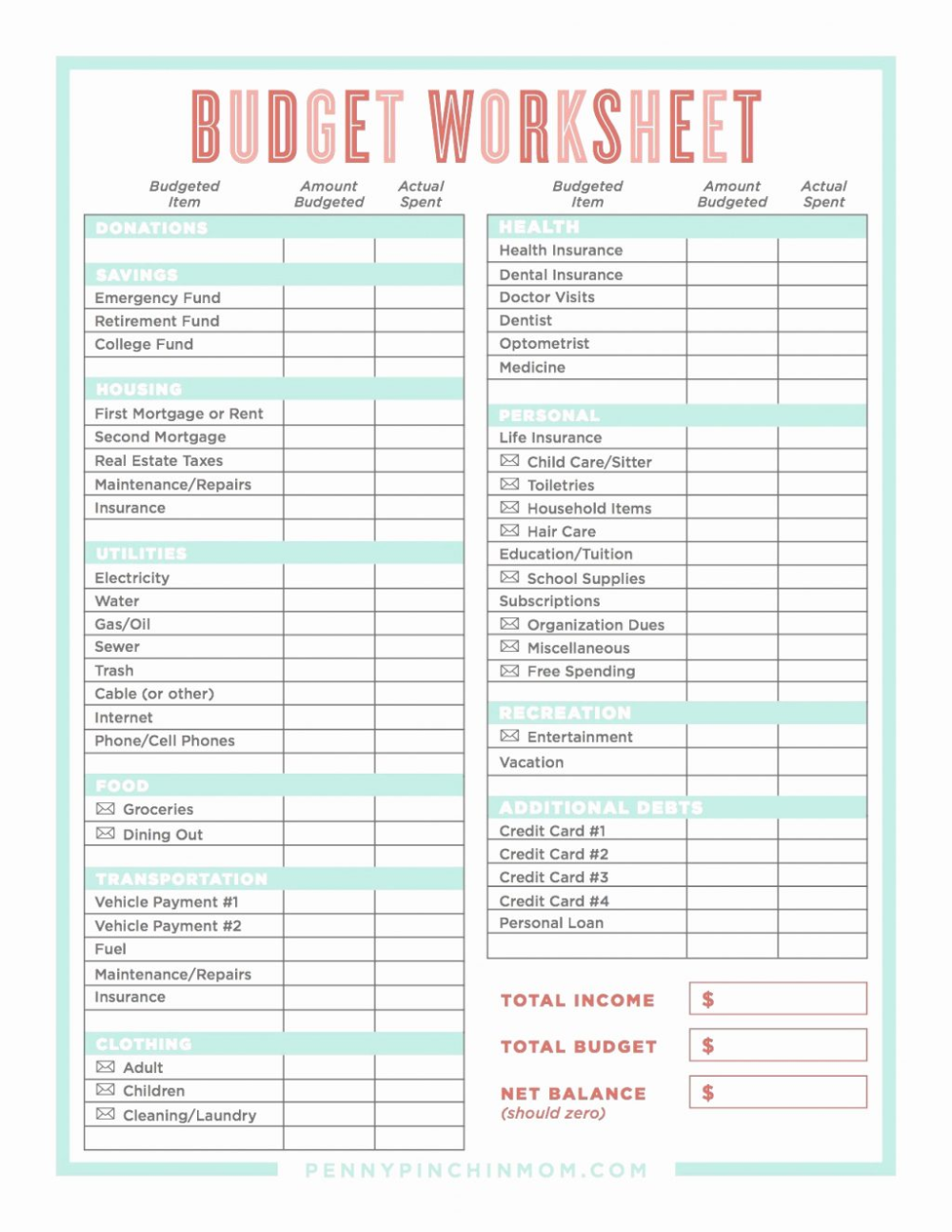 Spreadsheet Free Budget Dave Ramsey Sheet Template And Debt Money Worksheets Spreadsheets Online Cel Excel Forms S Money Worksheets Budgeting Budget Planning