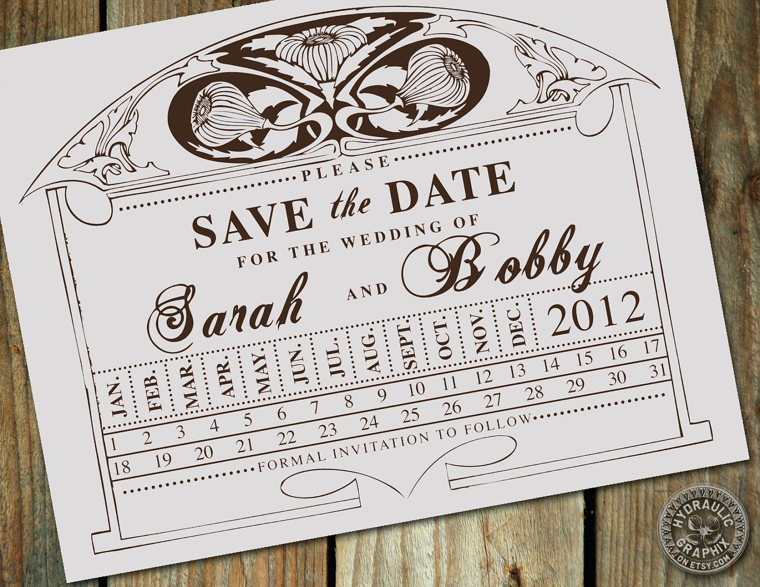 Vintage Train Station Ticket Stub Punch Card Wedding Save the Date ...