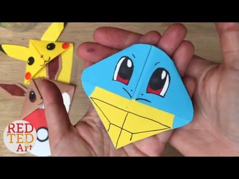 This Video Is About Easy Jigglypuff Diy Pokemon Bookmark Origami