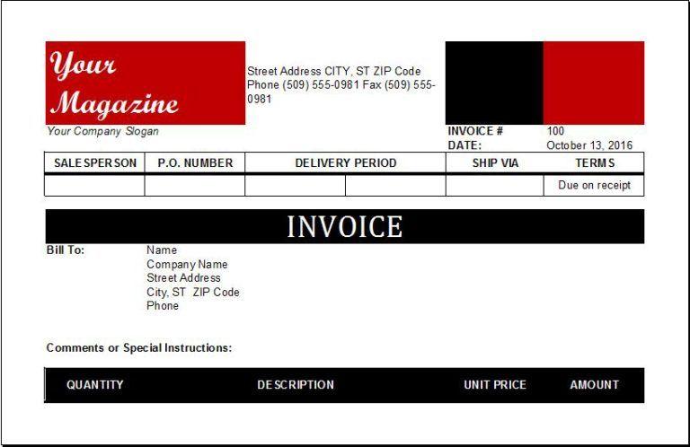 Magazine Subscription Invoice Invoice Template Invoicing Templates