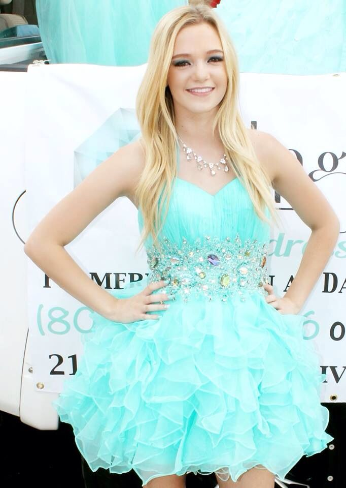 Size Xs Short Aqua Blue Semi Formal Homecoming Dress