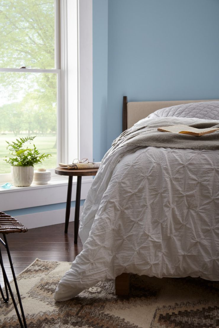 Color of the Month Charismatic Sky Blue bedroom walls