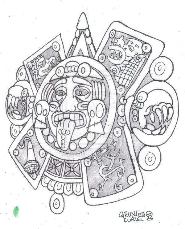 Aztec Tattoo Design | Tattoos | Pinterest | Azteca, Guerrero azteca ...