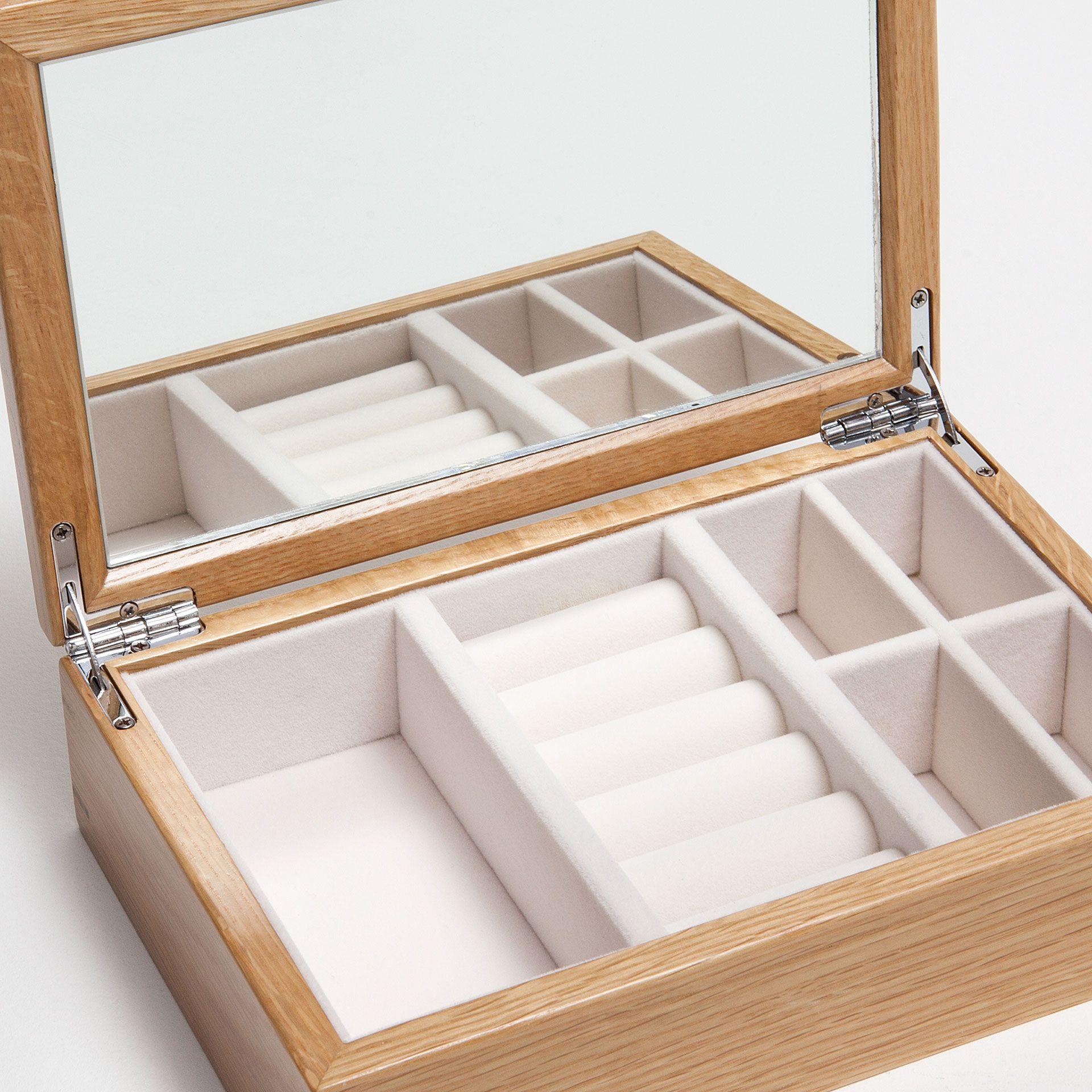 coffret bijoux bois couleur naturelle bo tes. Black Bedroom Furniture Sets. Home Design Ideas