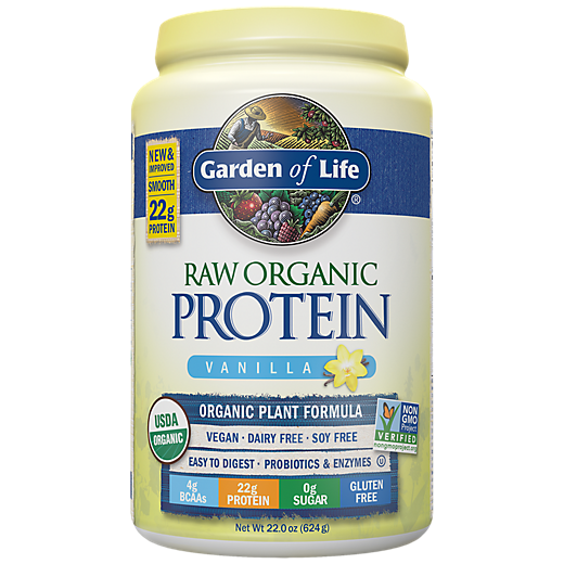 Raw Protein Real Raw Vanilla (624 Grams Powder) by