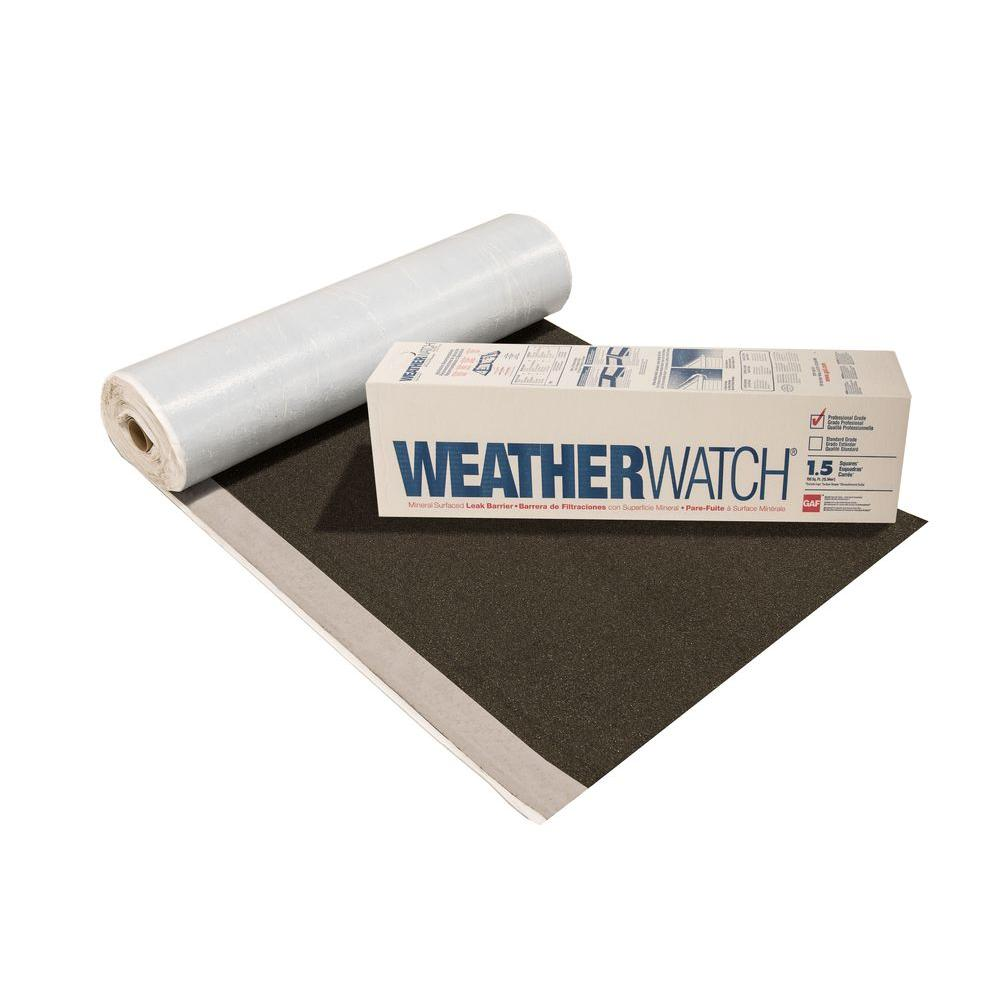 Gaf Weatherwatch 150 Sq Ft Mineral Surfaced Peel And Stick Roof Leak Barrier Roll 0912000 The Home Depot Leaking Roof Shake Roof Architectural Shingles