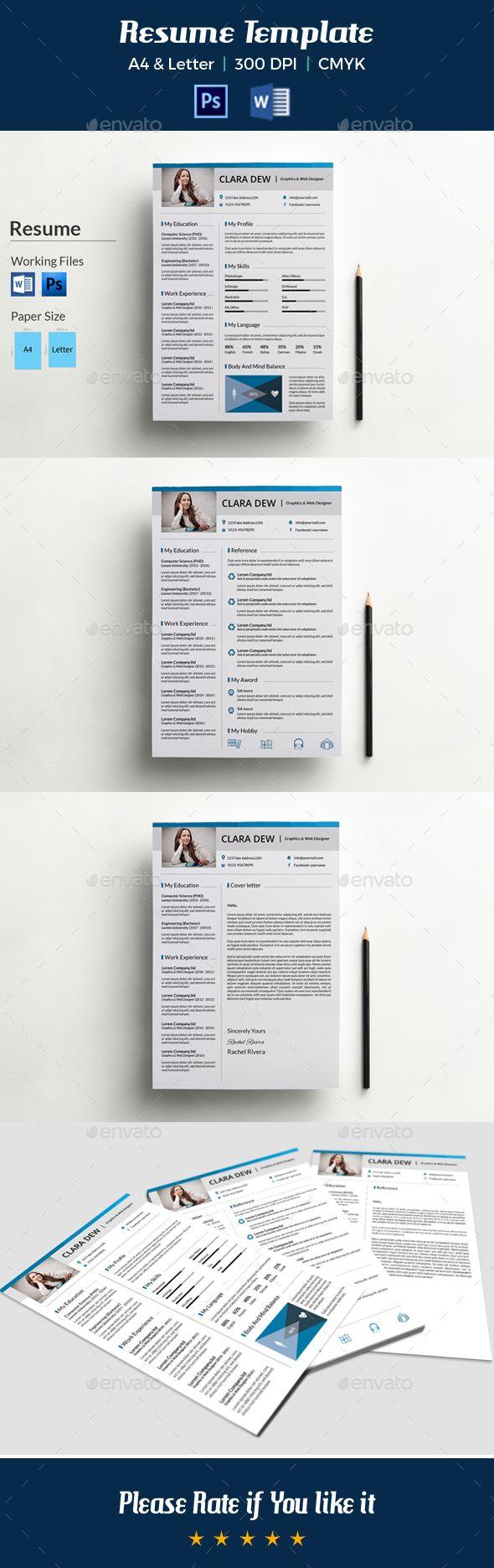 Creative Resume Template-V08 | Pinterest | Plantilla cv y Plantas