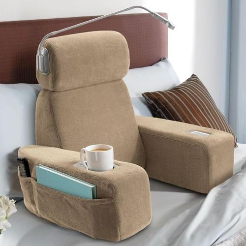 Bed rest pillows with arms | Bed chair pillow, Bed rest ...
