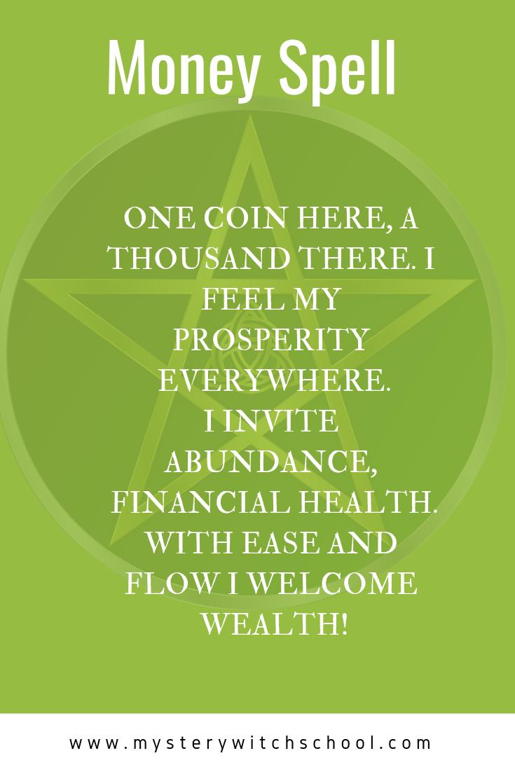 Money Spell #moneyspells Light a green candle, anoint it ...